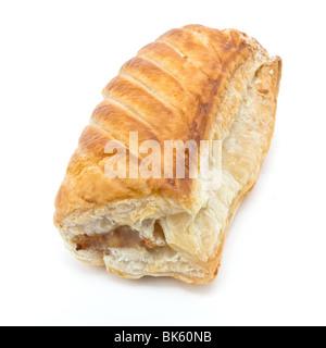 Saucisse d'or fabriqué à partir de viande de saucisse et feuilletée pâte feuilletée. Banque D'Images