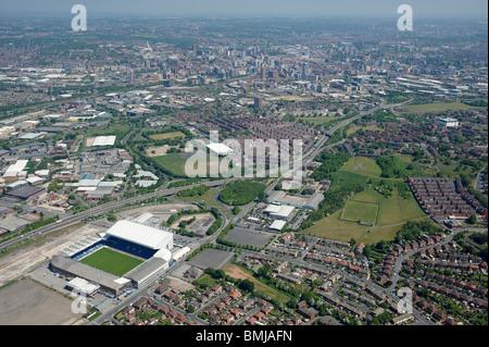 Leeds du sud-ouest, terrain de football de premier plan Elland Road, West Yorkshire, dans le Nord de l'Engand Banque D'Images