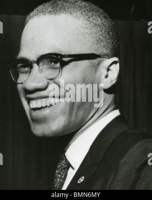 MALCOLM X (1925-1965) Ministre d'origine afro-américaine et militante des droits de l'homme en tant que chef de Banque D'Images
