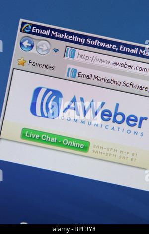 AWeber email marketing software Banque D'Images