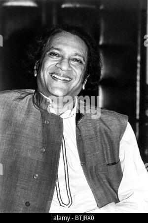 Ravi Shankar, musicien, compositeur, interprète et érudit, portrait, 1970 Banque D'Images