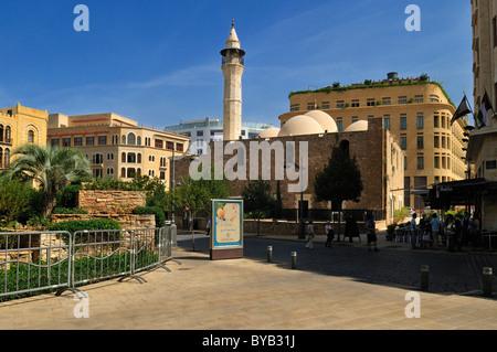 La mosquée Al Omari dans le centre historique de Beyrouth, Beyrouth, Liban, Moyen-Orient, Asie de l'Ouest Banque D'Images