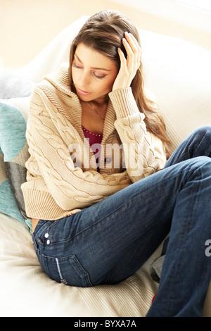 Adolescente déprimée Banque D'Images