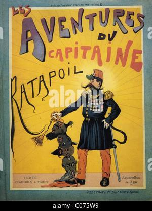 Travail (Jacques Onfroy de Bréville) - Illustrateur français (1858 - 1931). ' Les aventures du capitaine Ratapoil Banque D'Images