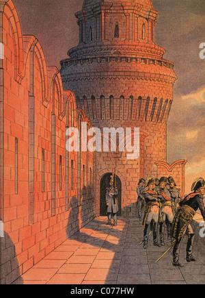 Travail (Jacques Onfroy de Bréville) - Illustrateur français (1858 - 1931) La vie de Napoléon Banque D'Images