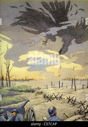 Travail (Jacques Onfroy de Bréville) - Illustrateur français (1858 - 1931). Première Guerre mondiale 1914 - 1918 Banque D'Images