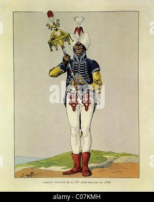 Travail (Jacques Onfroy de Bréville) - Illustrateur français (1858 - 1931) Chapeau chinois de la 57 ème demi-brigade Banque D'Images