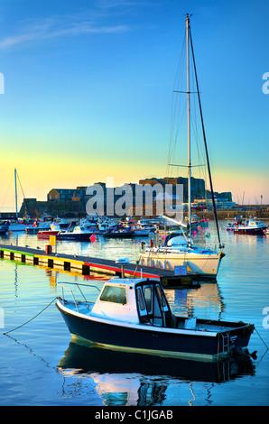 Port,bateaux,Château Cornet,St Peter Port, Guernsey, Channel Islands, Banque D'Images