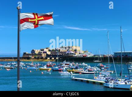 Château Cornet,St Peter Port, Guernsey, Channel Islands, Banque D'Images