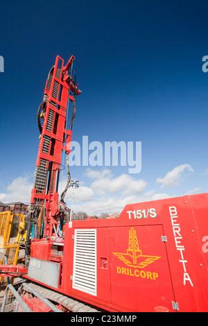 Un projet d'énergie géothermique par Newcastle University, financé par le ministère de l'énergie et du changement Banque D'Images