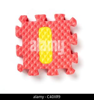 Pièce de puzzle alphabet I Banque D'Images