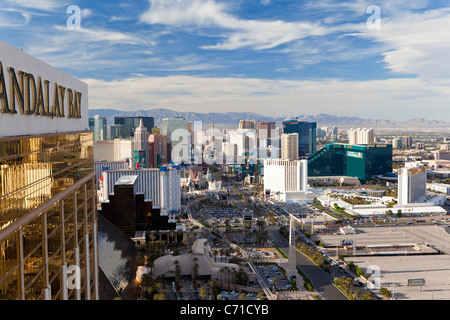 États-unis d'Amérique, Nevada, Las Vegas, view de l'Hôtels et casinos le long du Strip Banque D'Images