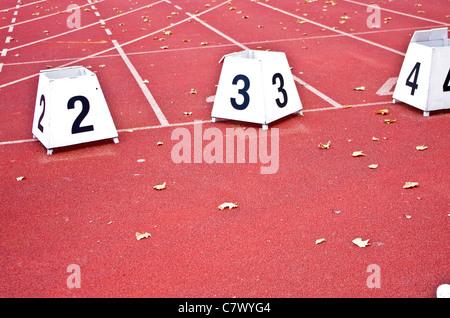 La piste de course Banque D'Images