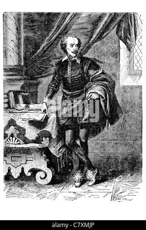 William Shakespeare 1564 1616 poète dramaturge anglais plus grand écrivain de langue anglaise Banque D'Images