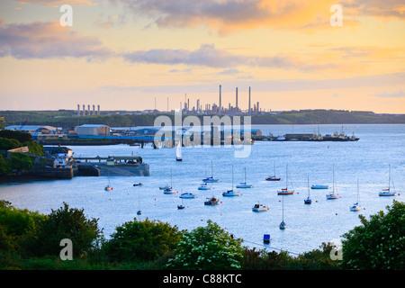 Haven Waterway Pembroke Dock, Pembrokeshire Wales Banque D'Images