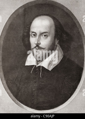 William Shakespeare, 1564 - 1616. Le poète et dramaturge anglais. De l'Assemblée annuelle 1910 Bibby publié. Banque D'Images