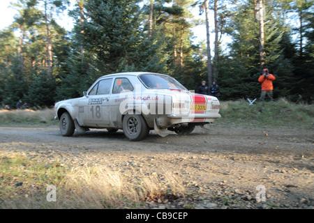 Les voitures de sport automobile rallye Banque D'Images