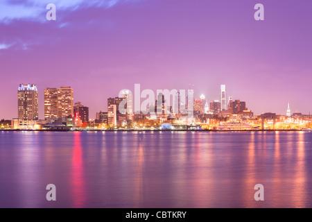 Toits de centre-ville de Philadelphie, Pennsylvanie, USA Banque D'Images