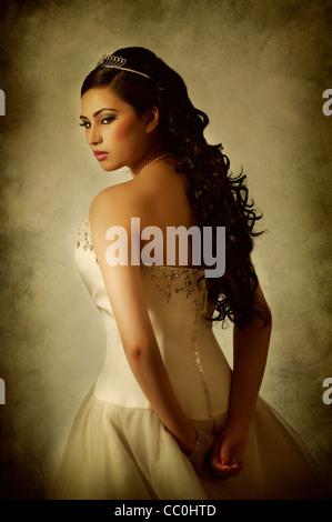 Belle Asian bride Banque D'Images