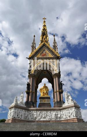 L'Albert Memorial, officiellement intitulé le Prince Consort National Memorial dans Kensington Gardens. Il a été Banque D'Images