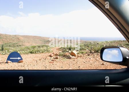 Le Parc national Arikok, Aruba, Lesser Antilles, Antilles Banque D'Images