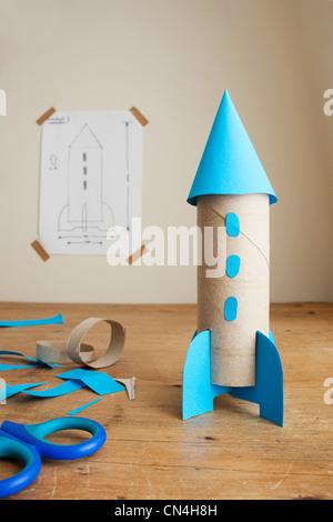 Maquette de fusée de l'enfant Banque D'Images
