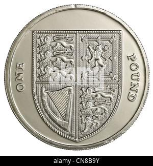 Une pièce de 1 £ pound frais généraux Banque D'Images