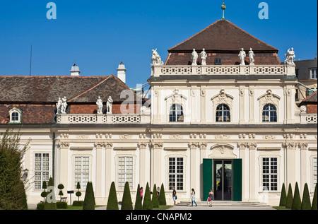 L'Autriche, Vienne, le Palais du Belvédère, de style baroque, construit par Johann Lukas von Hildebrandt au début Banque D'Images