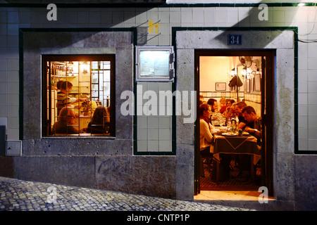 Un restaurant Primavera do Jerónimo, Bairro Alto, Lisbonne, Portugal Banque D'Images