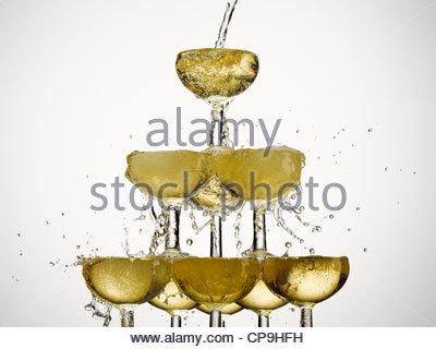 Célébration,abondance,champagne,le verre à champagne,image,couleur,concept,énergie,excès d'exubérance, compléter,mousse, Banque D'Images