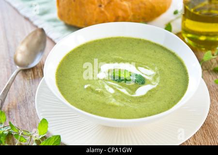 Pois vert,Menthe et céleri Banque D'Images