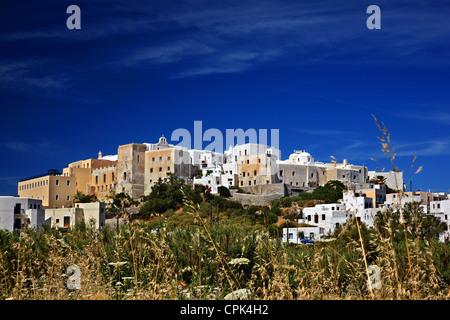 """L 'arrière' de la Caste d'Sanoudos , Chora ('capital"""") de l'île de Naxos, Cyclades, en Grèce. Banque D'Images"""