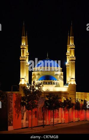 Liban, Beyrouth, la Mosquée Al-Omari Banque D'Images