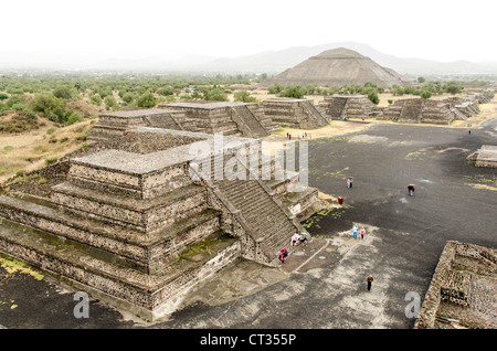 Teotihuacan Pyramids (UNESCO World Heritage Site) Mexico Mexique Amérique Centrale Banque D'Images
