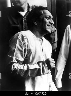 Ravi Shankar, musicien, compositeur, interprète et érudit, portrait, 1960. Avec la permission de la CSU: Archives Banque D'Images