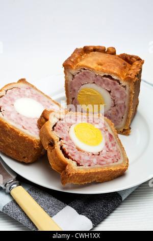 Le porc et l'Oeuf Tarte Gala Banque D'Images