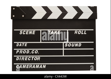Clapper board with clipping path Banque D'Images