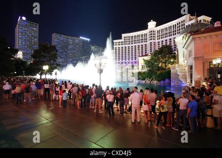 Hôtels et casinos le long du Strip, Las Vegas, Nevada, États-Unis d'Amérique, Amérique du Nord Banque D'Images