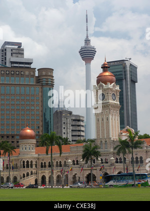 Merdeka Square & Sultan Abdul Samad Building, Kuala Lumpur, Malaisie Banque D'Images
