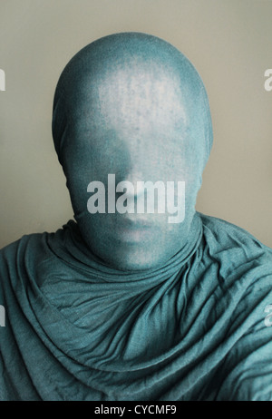 Anonyme,voilée,tissu Banque D'Images