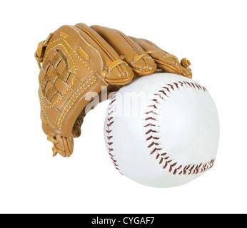 Gant de baseball et balle pour le passé national temps pour les après-midi d'été - chemin inclus Banque D'Images