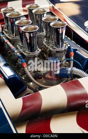 Voiture de course course américaine avec moteur V8 Banque D'Images