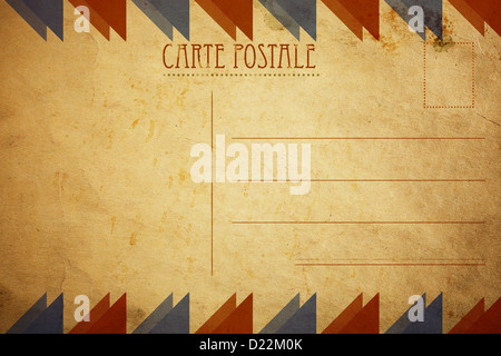 Dos de Carte postale vintage de la décoration pour votre conception Banque D'Images