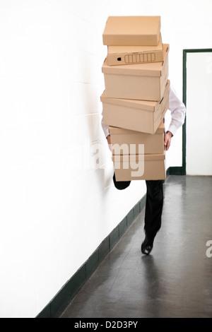 Accident de travail PARUTION MODÈLE Banque D'Images