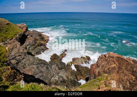 L'Australie, Nouvelle Galles du Sud, à mi-Côte Nord, Port Macquarie, vue sur l'océan Pacifique de l'adherence Point Banque D'Images