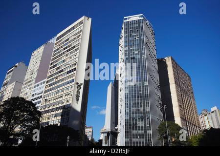 Gratte-ciel à Praca Sete, Belo Horizonte, Minas Gerais, Brésil, Amérique du Sud Banque D'Images