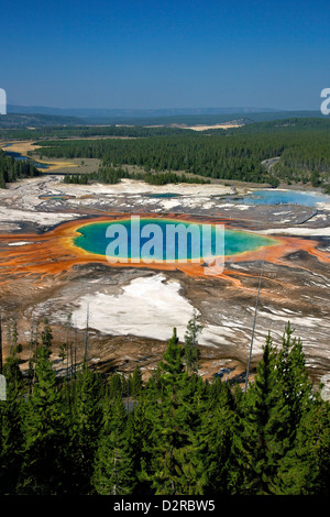 Grand Prismatic Spring, Midway Geyser Basin, Parc National de Yellowstone, Wyoming, USA Banque D'Images