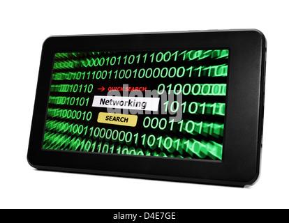 La mise en réseau du PC tablette Banque D'Images