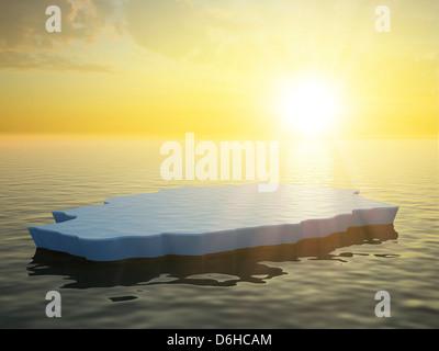 La glace de mer, artwork Banque D'Images