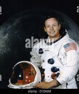L'astronaute Neil Armstrong Banque D'Images